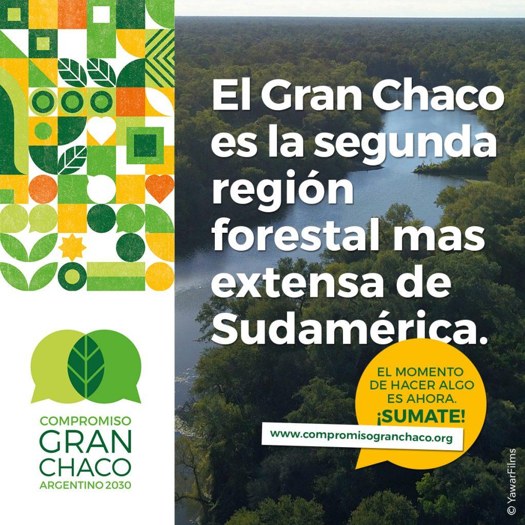 El Gran Chaco es la segunra región forestal mas extensa de Sudamérica